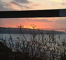 View from St Marys church yard at sunset by Sarah Gee