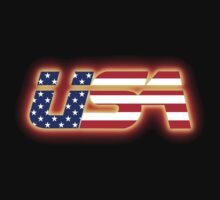 USA - Flag Logo - Glowing by graphix