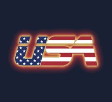 USA - Flag Logo - Glowing Kids Clothes