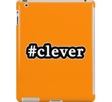 Clever - Hashtag - Black & White iPad Case/Skin