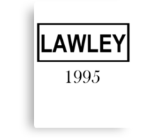 LAWLEY BLACK Canvas Print