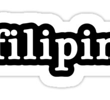 Filipina - Hashtag - Black & White Sticker