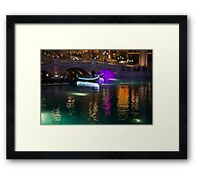 It's Not Venice - Bright Lights, Glamorous Gondolas and the Magic of Las Vegas at Night Framed Print