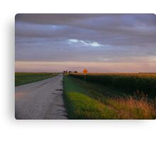 Sunset Harvest Country Gravel Road Canvas Print