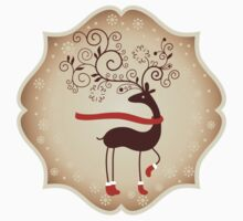 Elegant Reindeer Christmas Card - Happy Holidays Kids Clothes