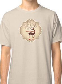Elegant Reindeer Christmas Card - Happy Holidays Classic T-Shirt