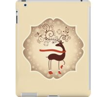 Elegant Reindeer Christmas Card - Happy Holidays iPad Case/Skin