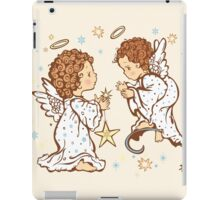 Cute Angels Christmas Card - O Holy Night iPad Case/Skin