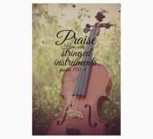 Praise Him Psalm violin Kids Clothes