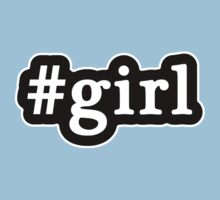 Girl - Hashtag - Black & White One Piece - Short Sleeve