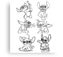 Stitch Sketches Collection Canvas Print