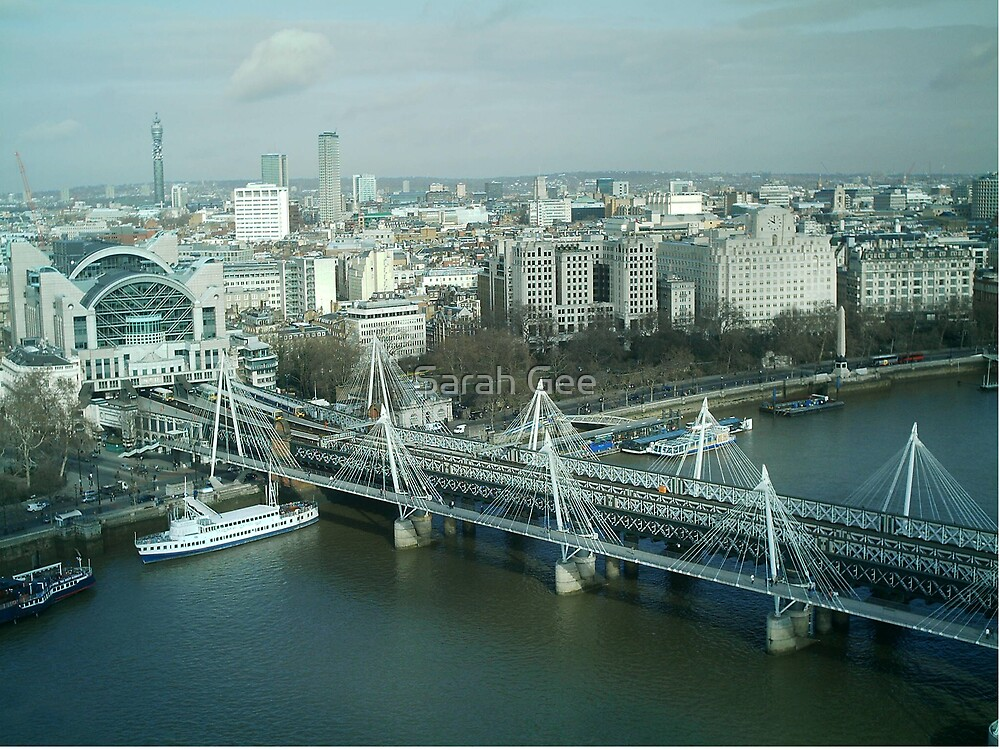 London from the eye by Sarah Gee