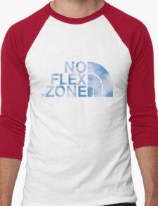 No Flex Zone (clouds) Men's Baseball ¾ T-Shirt