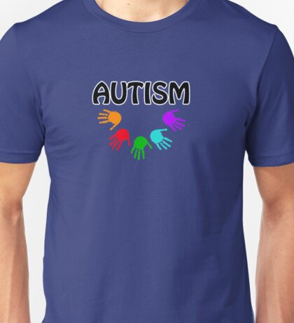 Autism colorful hands Unisex T-Shirt