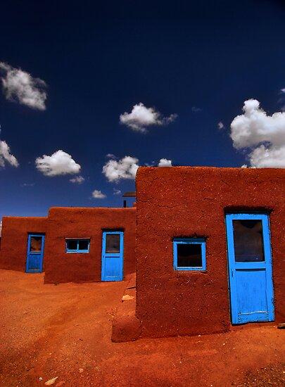 Three Doors of Taos by Christian von Schleicher