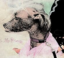 """Chinese Crested Dog """"To My Princess"""" ~ Greeting Card by Susan Werby"""