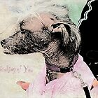 "Chinese Crested Dog ""Thinking of You"" ~ Greeting Card by Susan Werby"