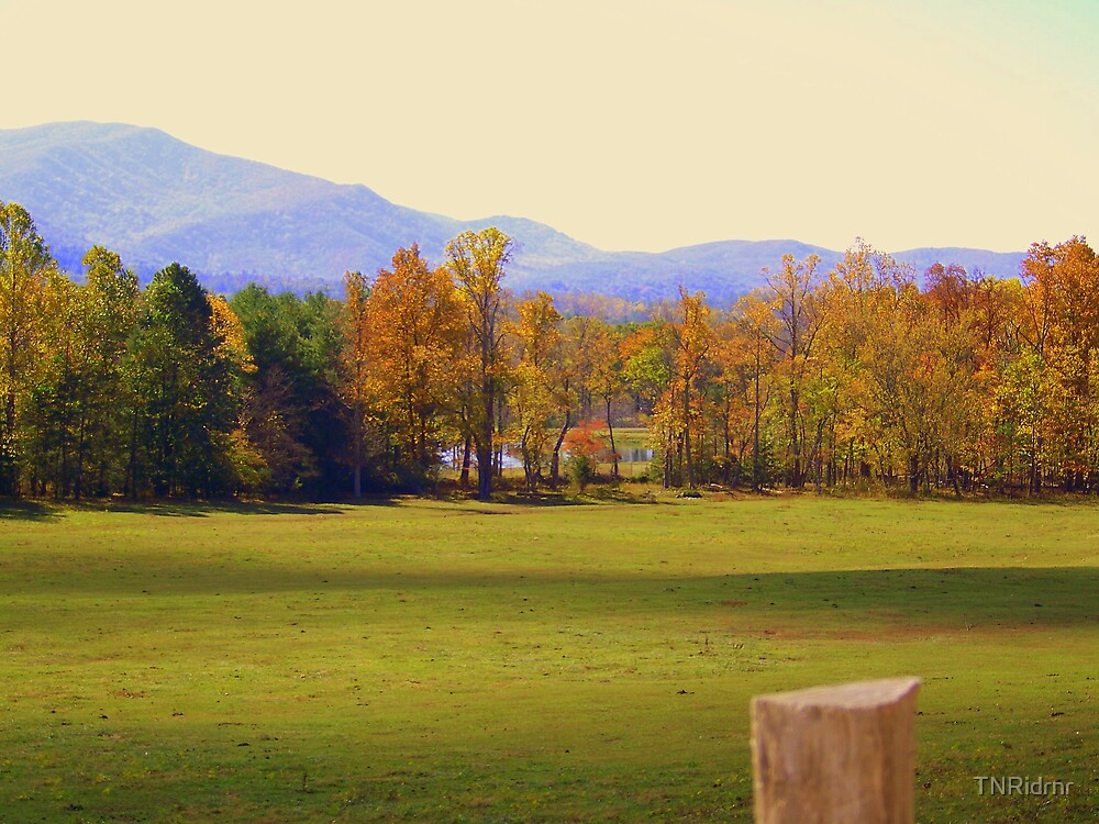 Cades Cove in Autumn - the hidden lake by TNRidrnr