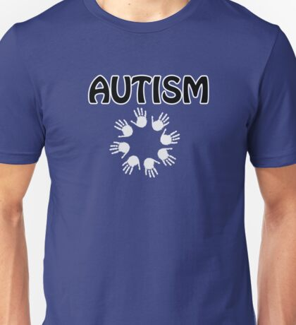 Autism white hands  Unisex T-Shirt