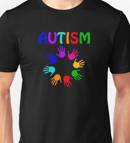 Autism Awareness Colorful Hands Unisex T-Shirt