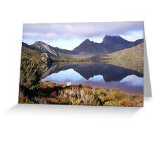 Cradle Mountain, Tasmania,  on a dull day Greeting Card