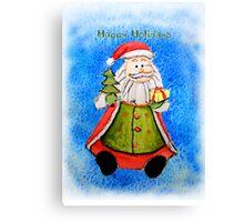 Happy Holidays from Santa Canvas Print