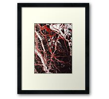 Black and red marble iphone case Framed Print