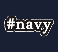 Navy - Hashtag - Black & White by graphix