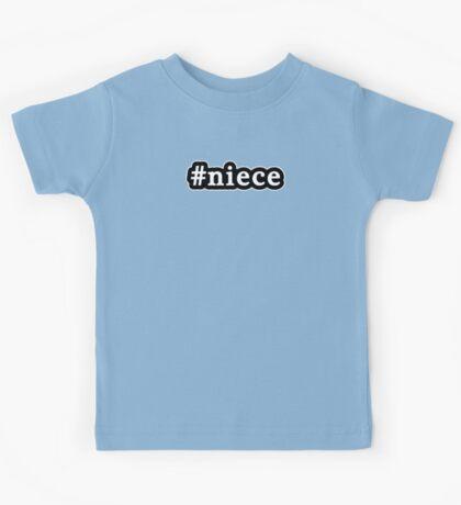 Niece - Hashtag - Black & White Kids Tee
