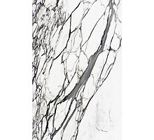 White marble iphone case Photographic Print