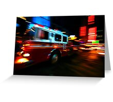 Fire Truck # 65 Greeting Card