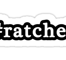 Ratchet - Hashtag - Black & White Sticker