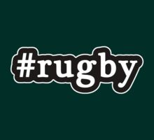 Rugby - Hashtag - Black & White by graphix