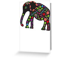 Elephant painted markers Greeting Card