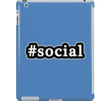 Social - Hashtag - Black & White iPad Case/Skin