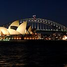 Opera House and Sydney Harbour Bridge by DavidIori