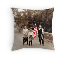 Music Corps at the Bridge Throw Pillow