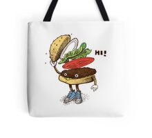 Burger Greeting Tote Bag