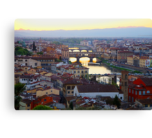 All About Italy. Piece 16 - Florence Canvas Print