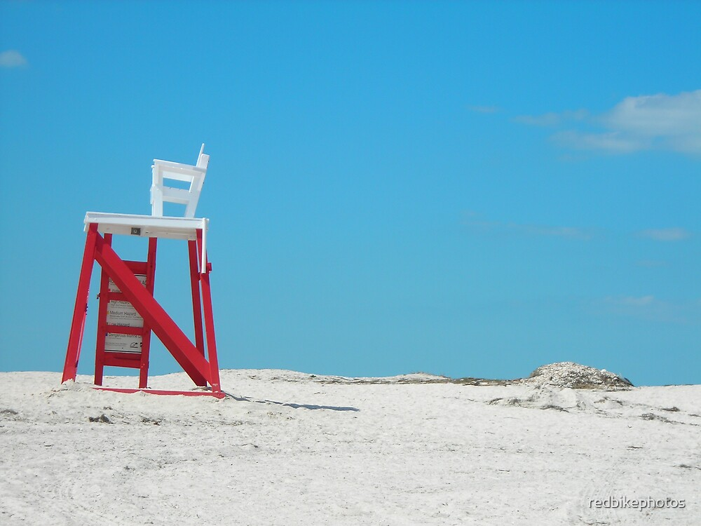 life guard chair by redbikephotos