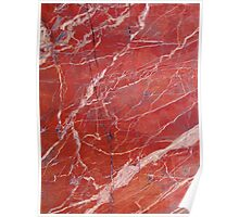 Red  marble iphone case Poster