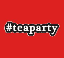 Tea Party - Hashtag - Black & White by graphix
