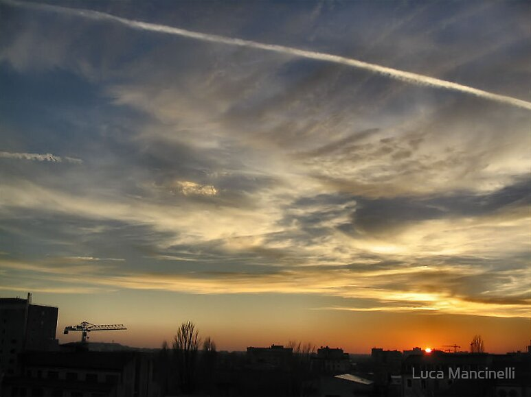Sunset over Bucharest I by Luca Mancinelli