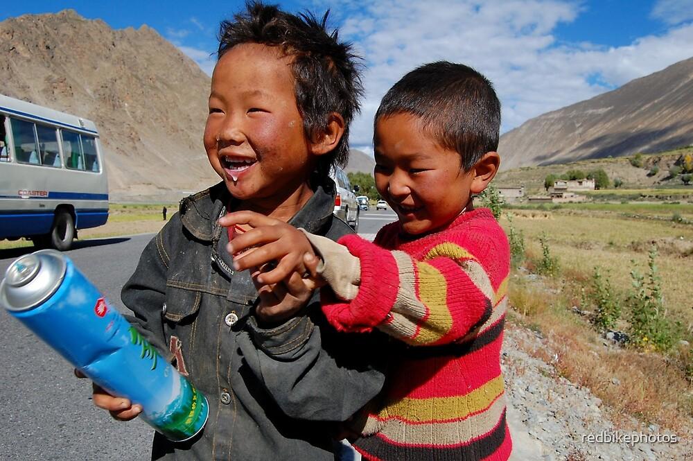 tibetan boys by redbikephotos