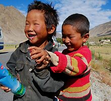 tibetan boys by redbikephotos