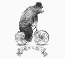 Bears on Bicycles (lime option) Kids Clothes