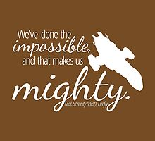 Impossible Makes Us Mighty (Dark) by mezzotessitura