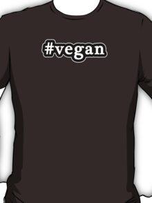 Vegan - Hashtag - Black & White T-Shirt
