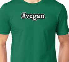 Vegan - Hashtag - Black & White Unisex T-Shirt