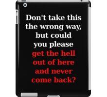 Wrong Way - White/Red iPad Case/Skin